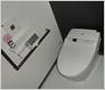 清潔感のあるお手洗いに仕上げました。白と黒が映えて高級感があります。